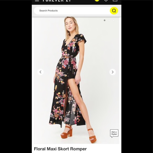 c47e9bbbcac Forever 21 Dresses   Skirts - Floral maxi skort romper